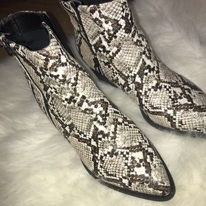 Guess snake skin ankle boots